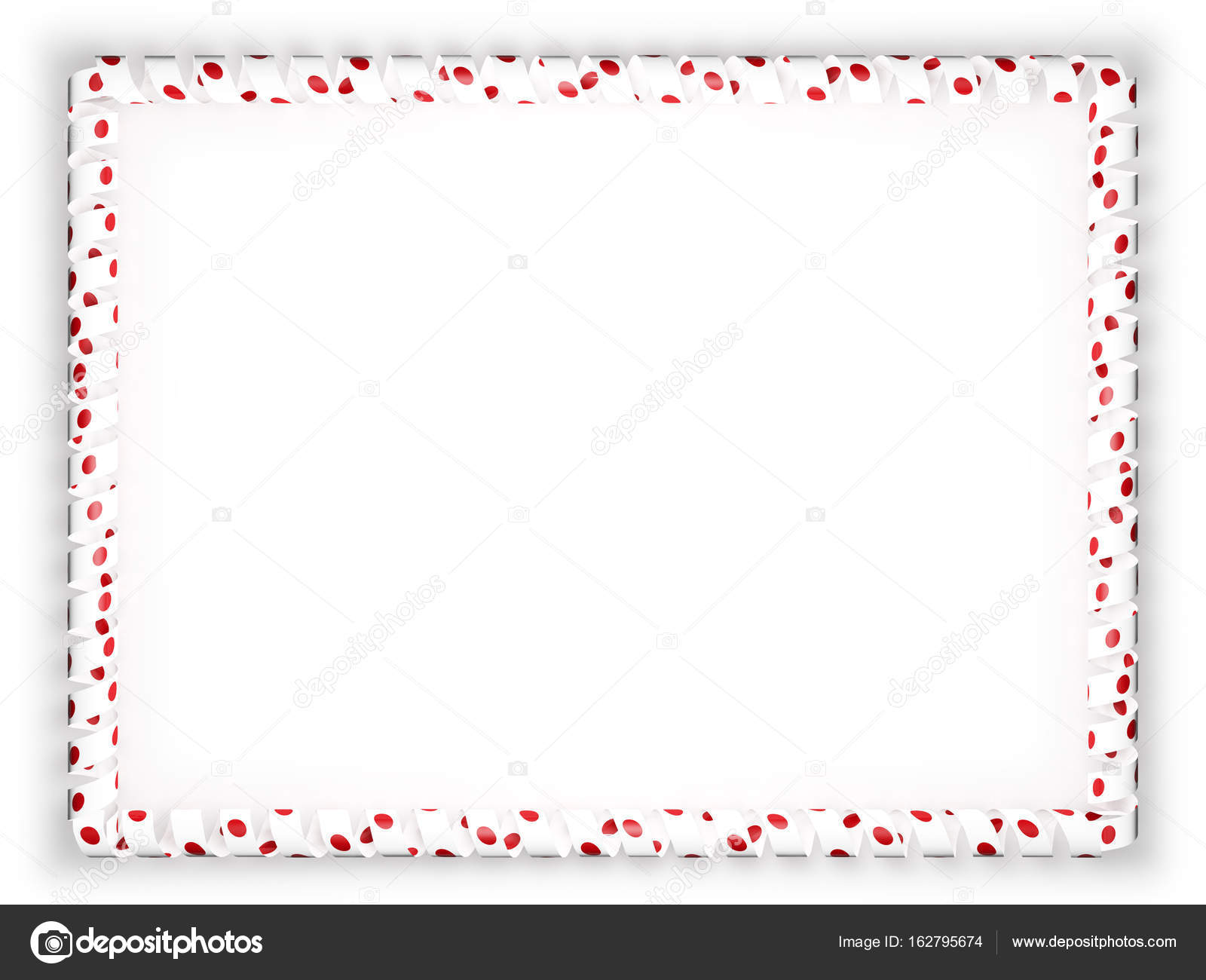 Frame and border of ribbon with the Japan flag. 3d illustration ...
