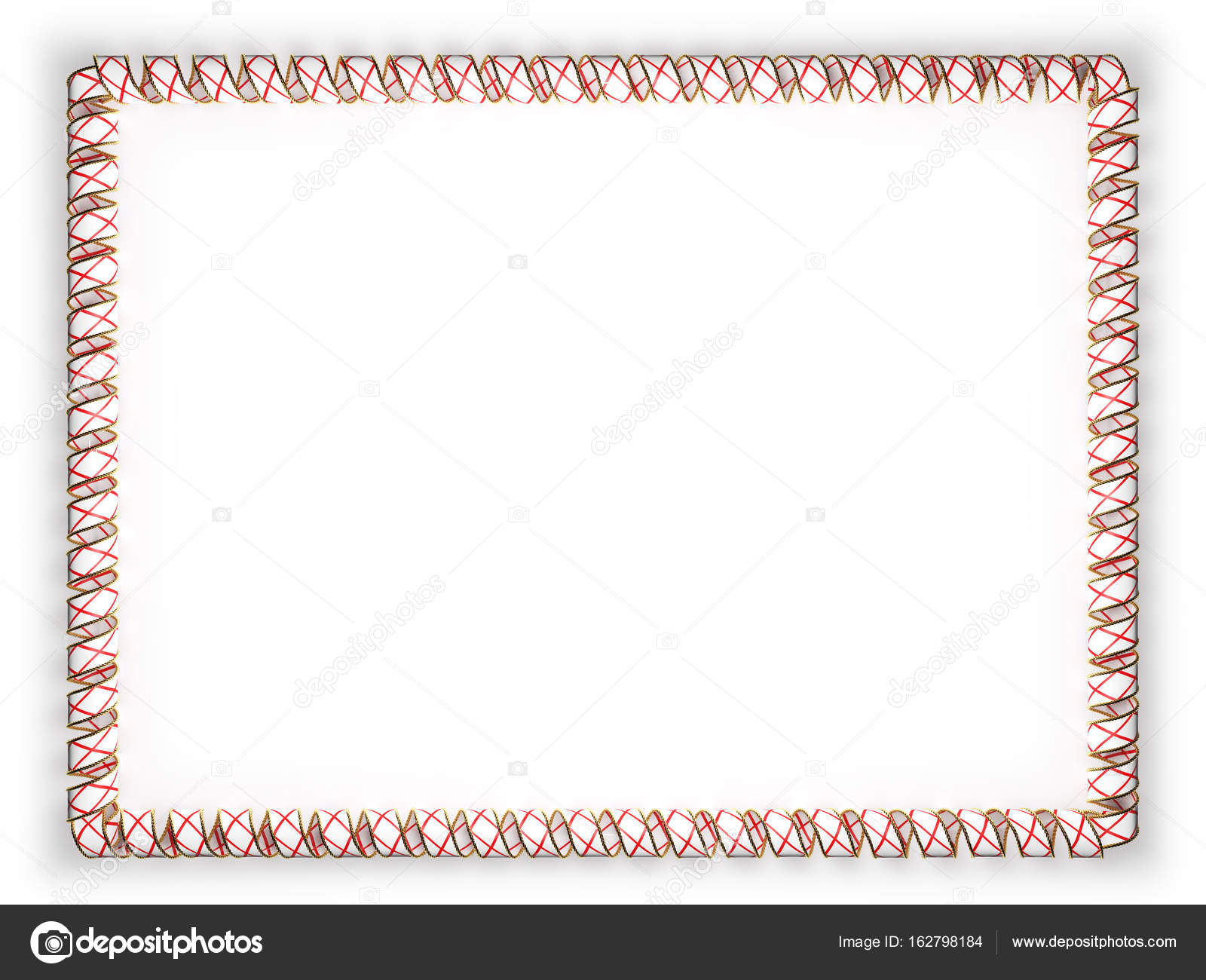 Frame And Border Of Ribbon With The State Alabama Flag USA Edging From