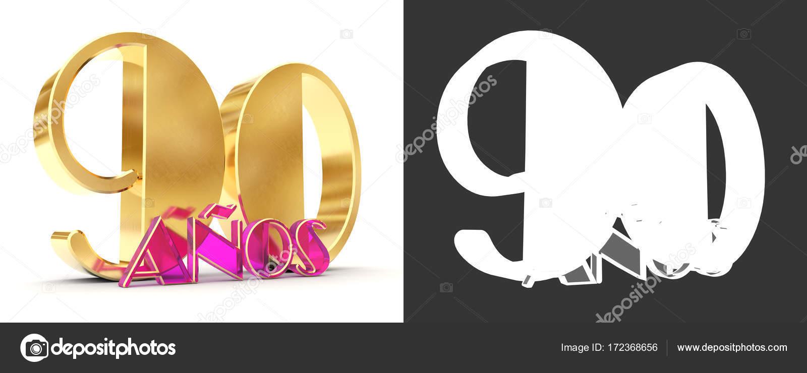 Numero di novanta (90 anni) celebrazione design. Elementi del