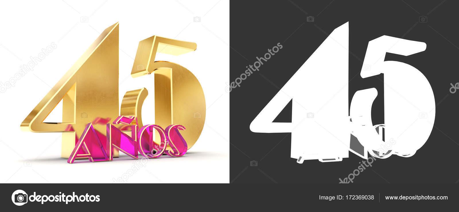 Numero quarantacinque (45 anni) celebrazione design. Elementi del