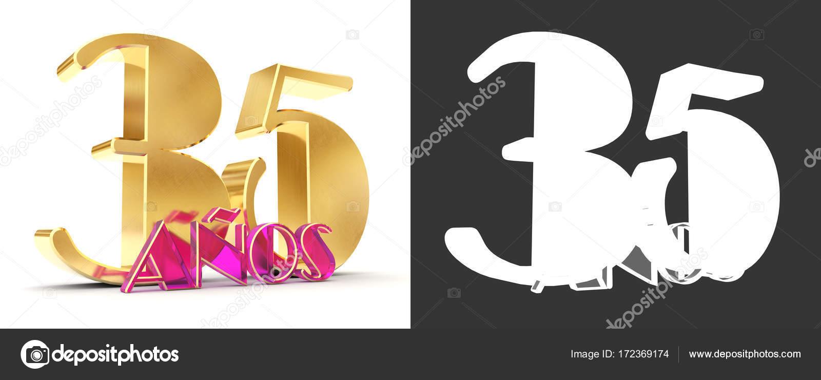 Number Thirty Five Years 35 Years Celebration Design Anniversary