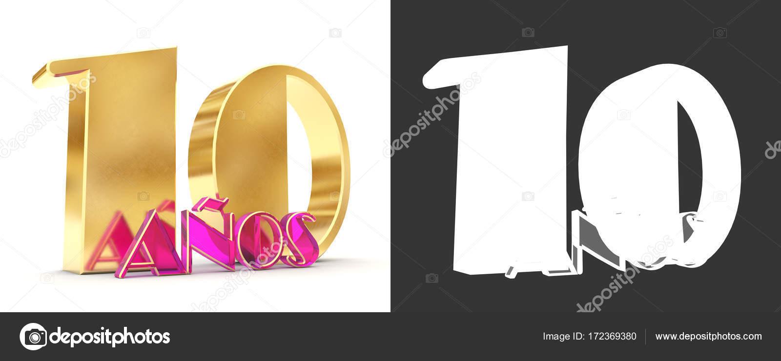 Numero di dieci anni (10 anni) celebrazione design. Elementi del