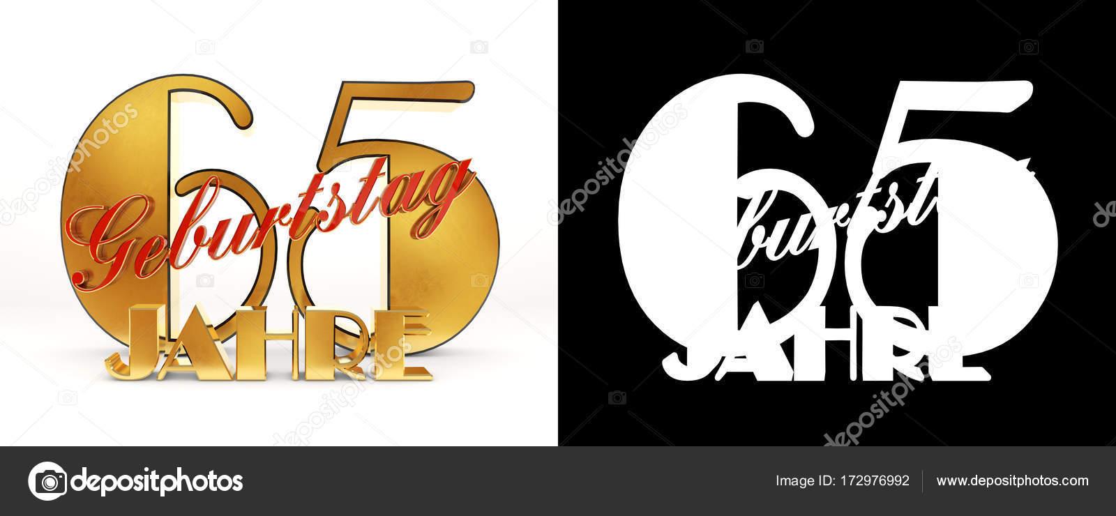 Numero di design di celebrazione di sessanta cinque anni (65 anni