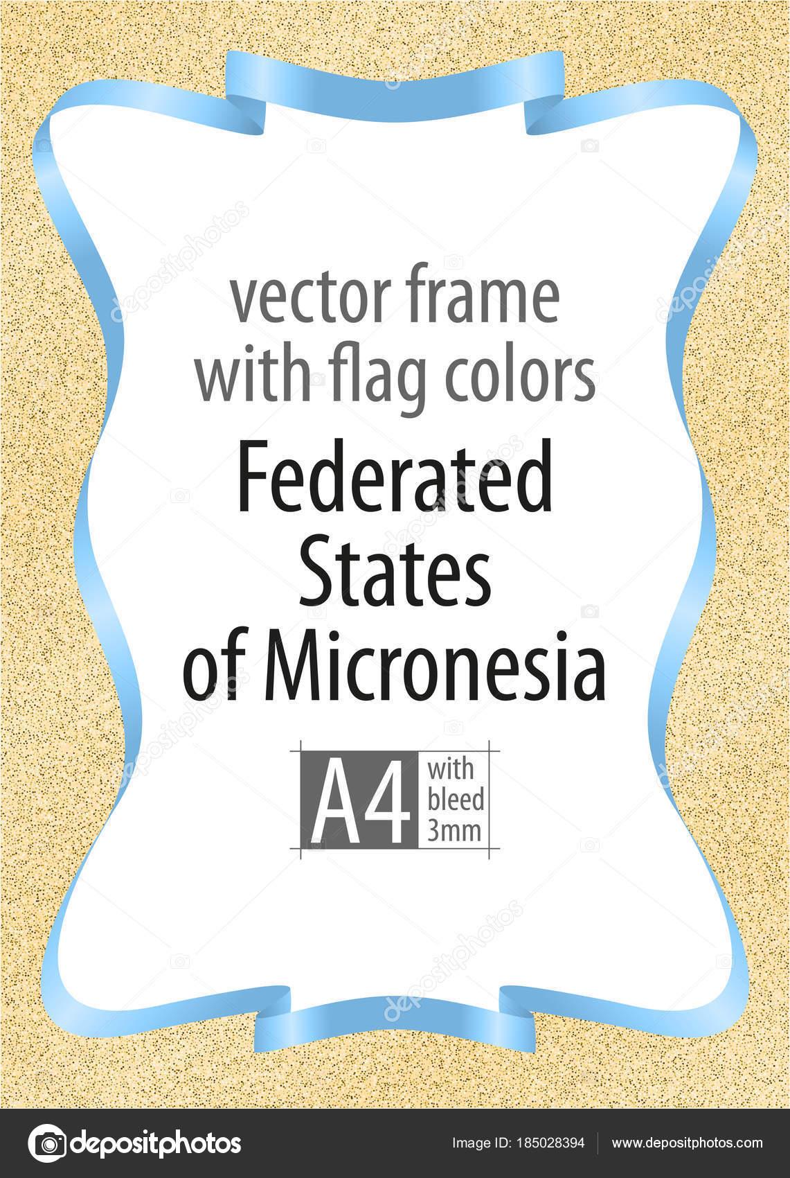 Marco y borde de cinta con los colores de la bandera de Estados ...