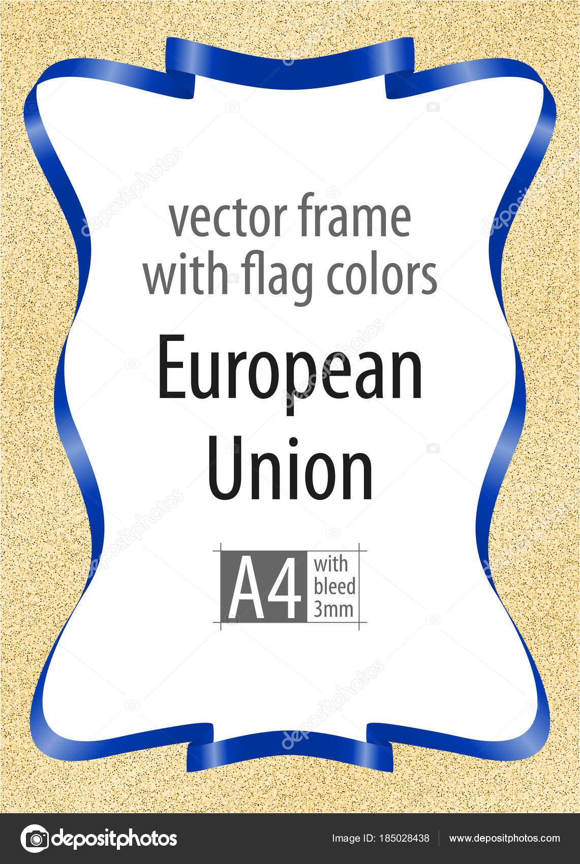 Marco y borde de cinta con los colores de la bandera de la Unión ...