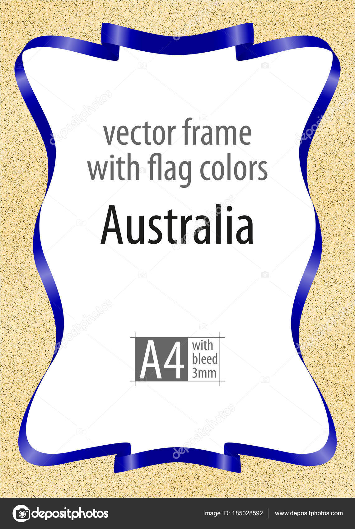 Frame And Border Of Ribbon With The Colors Of The Australia Flag
