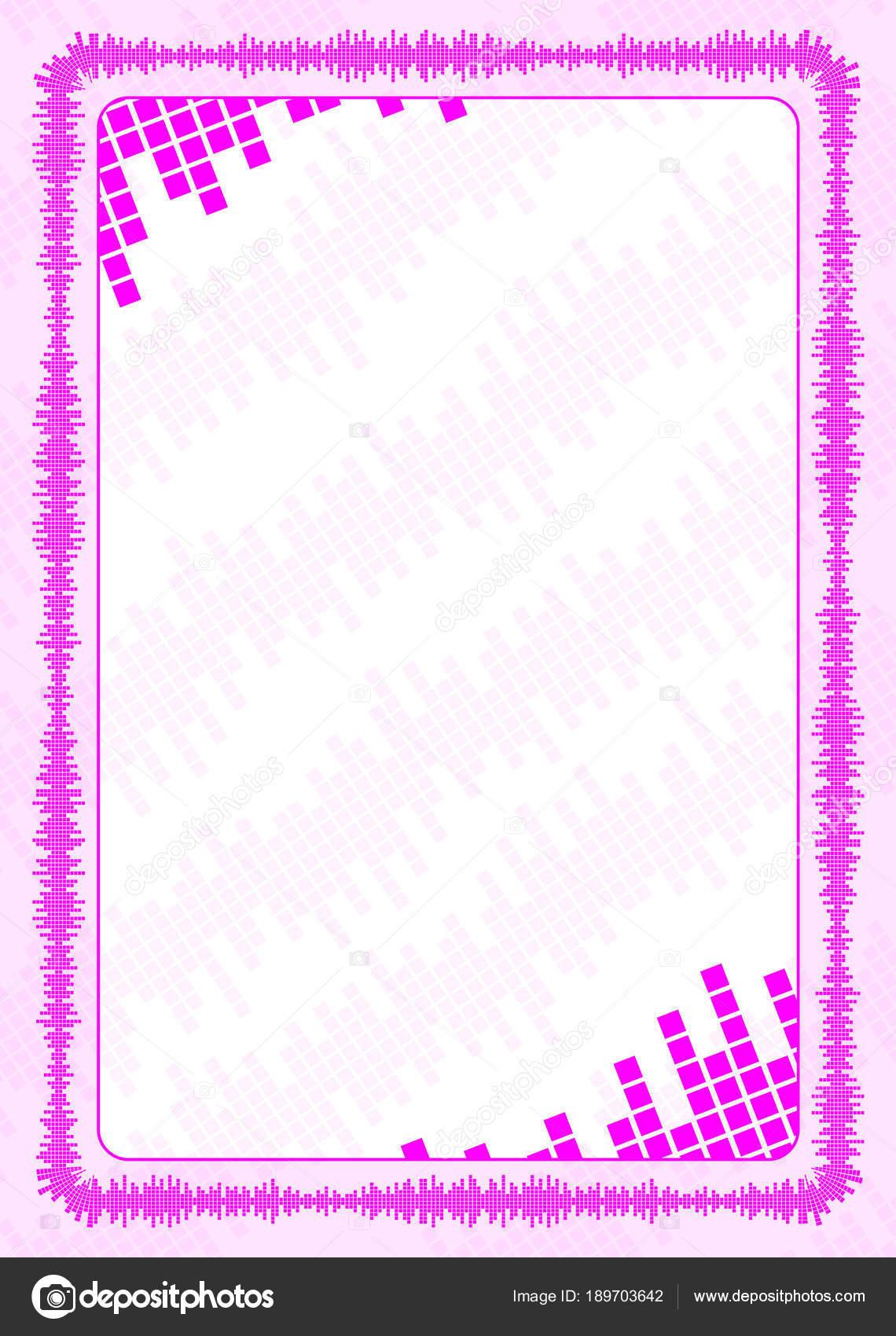 Vector marco y frontera con volumen de color rosa para diploma ...