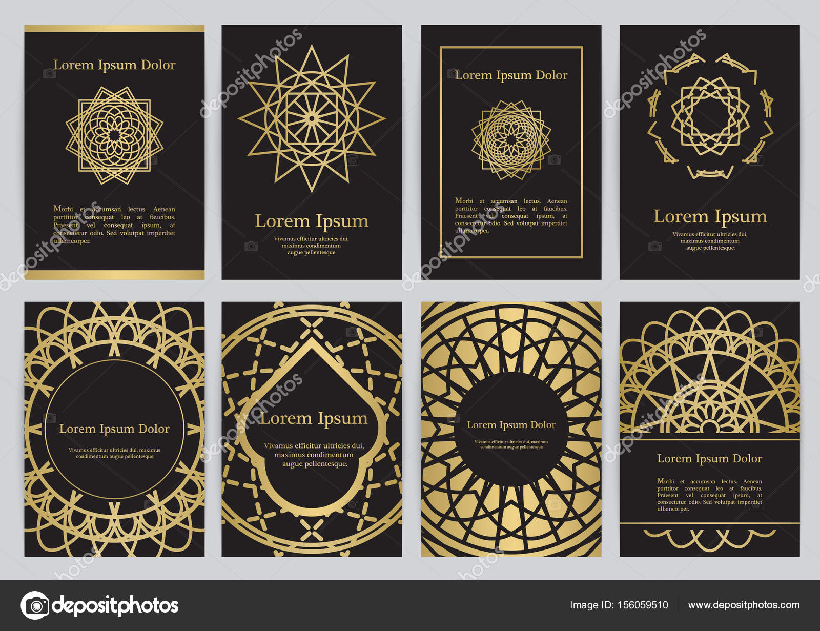 Vector Templates For A4 With Sacred Geometry Symbols Stock