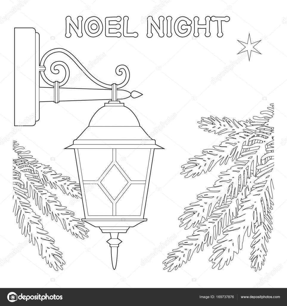 Cartel de noche blanco y negro de Noel con estrella solitaria ...