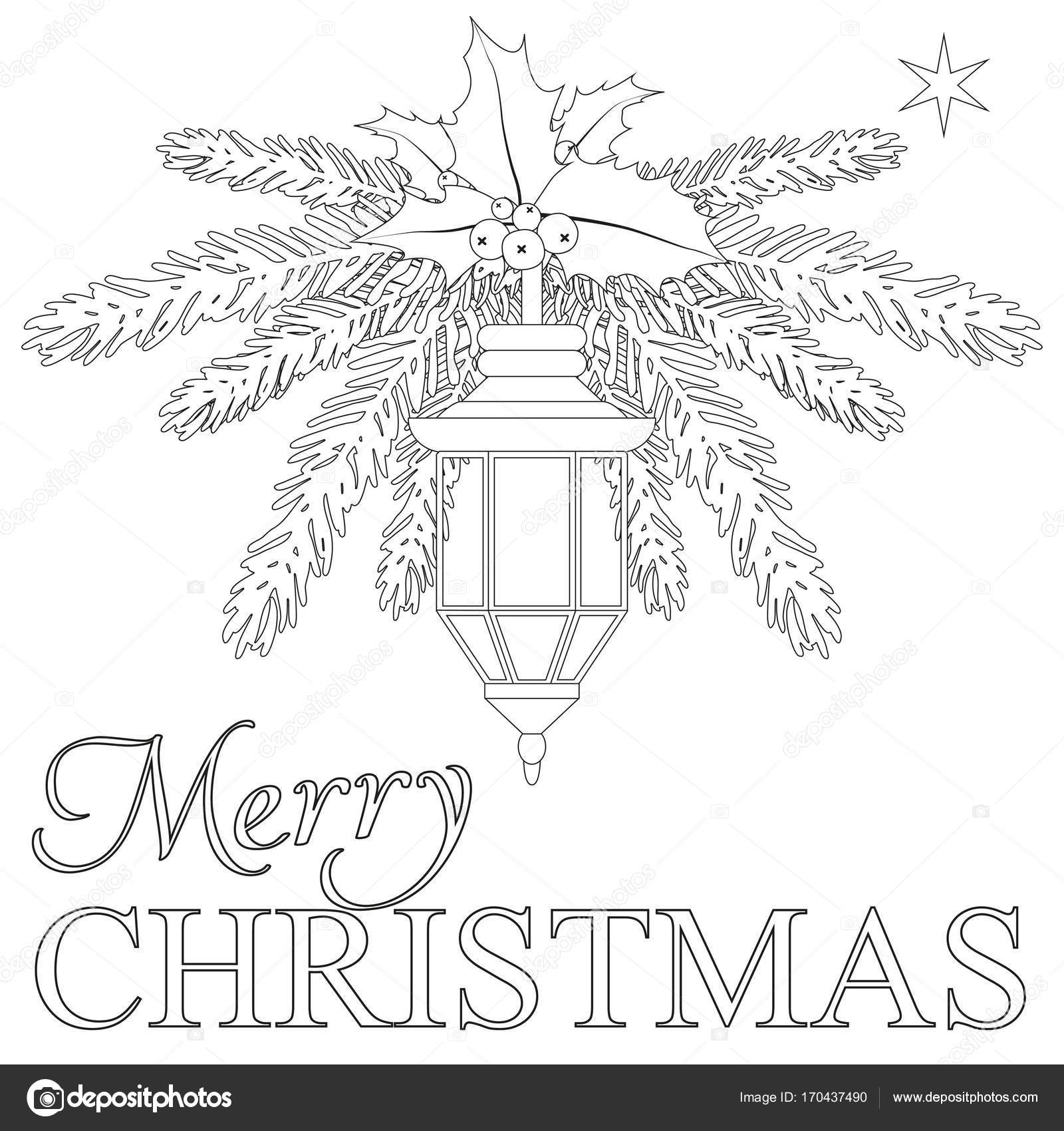 Merry Christmas coloring book page — Stock Vector © bessyana #170437490