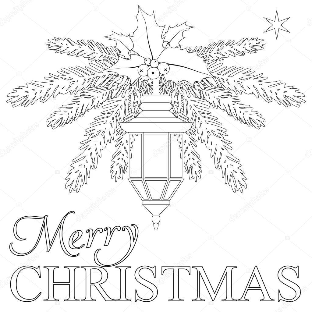 frohe weihnachten malvorlagen buch — stockvektor