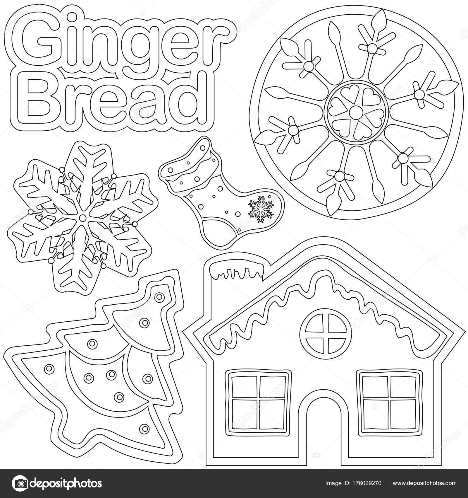 Poster de pan blanco y negro de jengibre - casa, zapato, árbol de ...