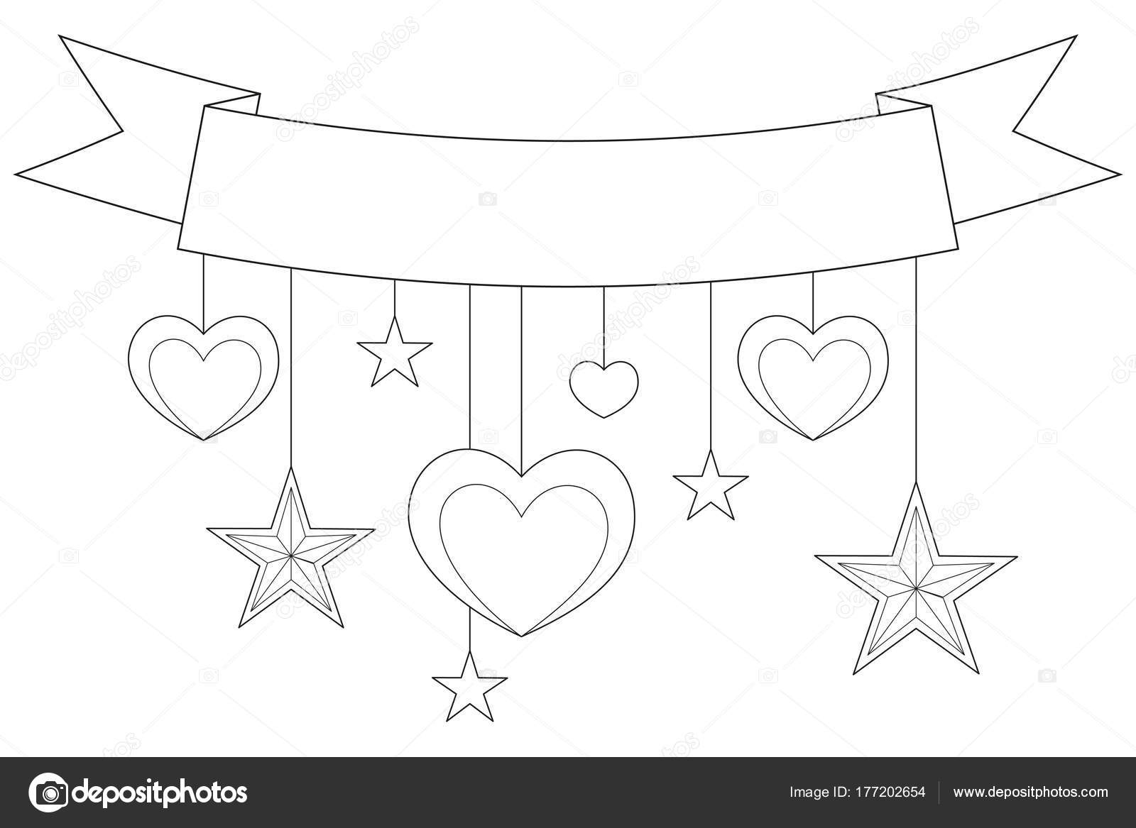 Imágenes Corazones Y Estrellas Para Colorear Cinta Corazones Y