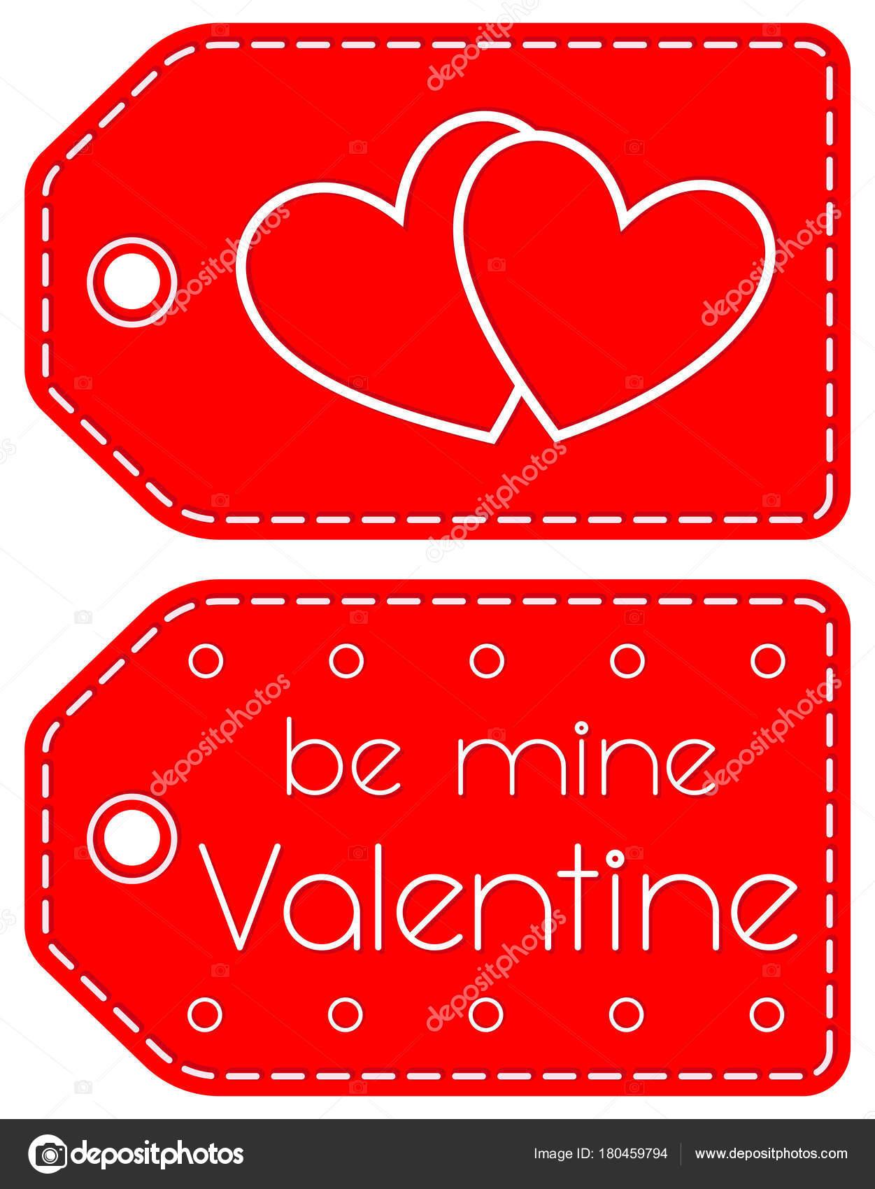 Mine Valentine Herz Kreis rot-Tag gesetzt werden — Stockvektor ...