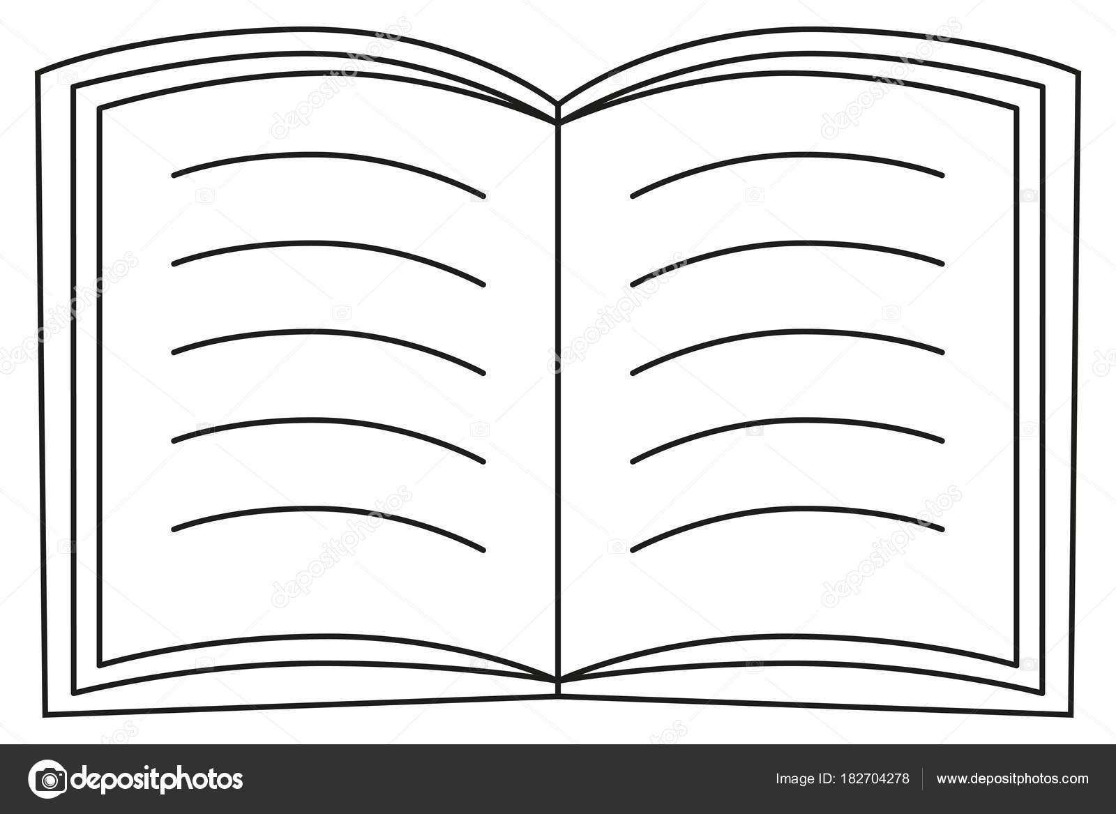Schule Hochschule Universitat Linie Kunst Symbol Plakat Offenes Buch
