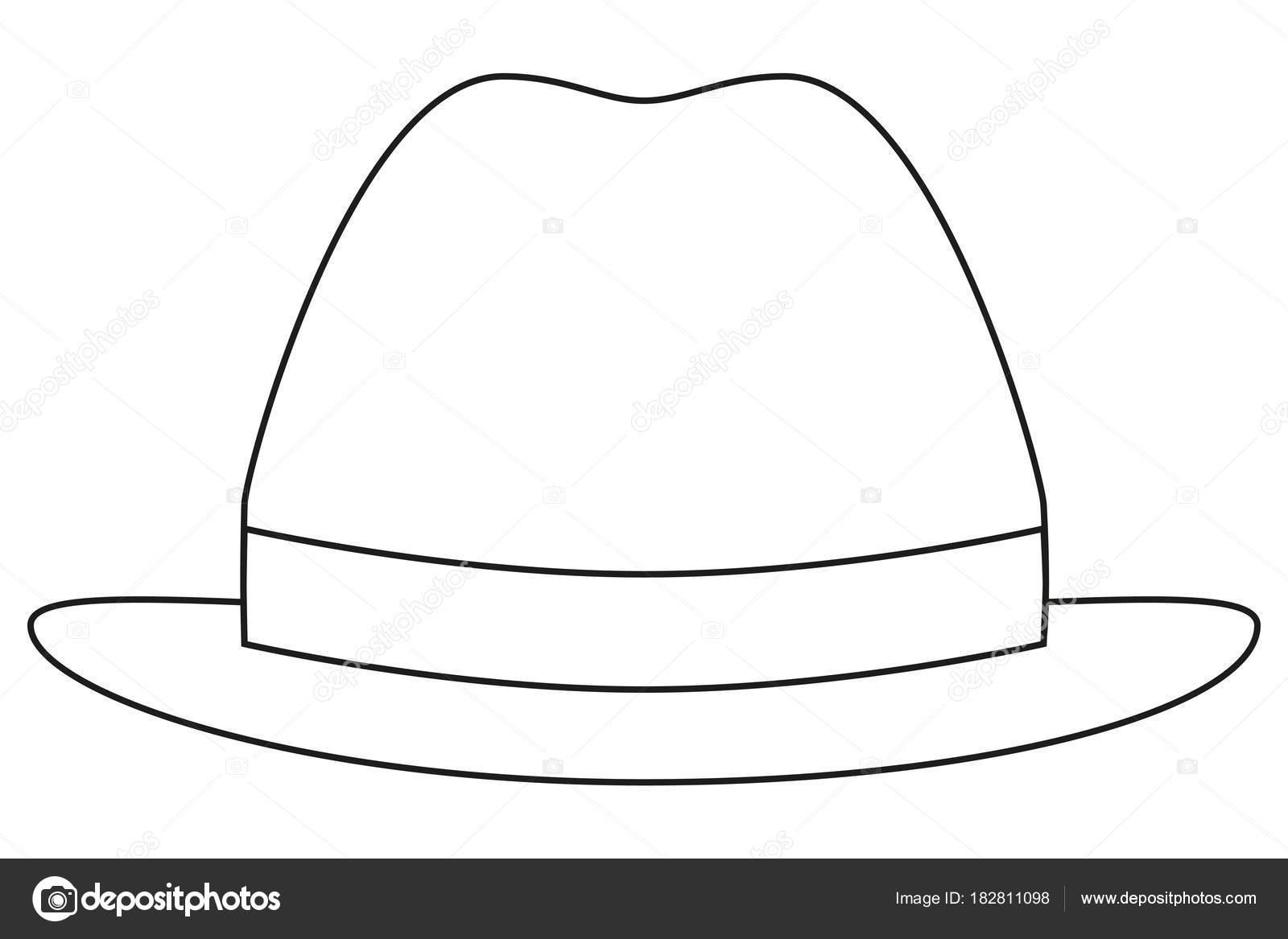 Icono línea arte cartel hombre papá día sombrero gorro — Vector de ...