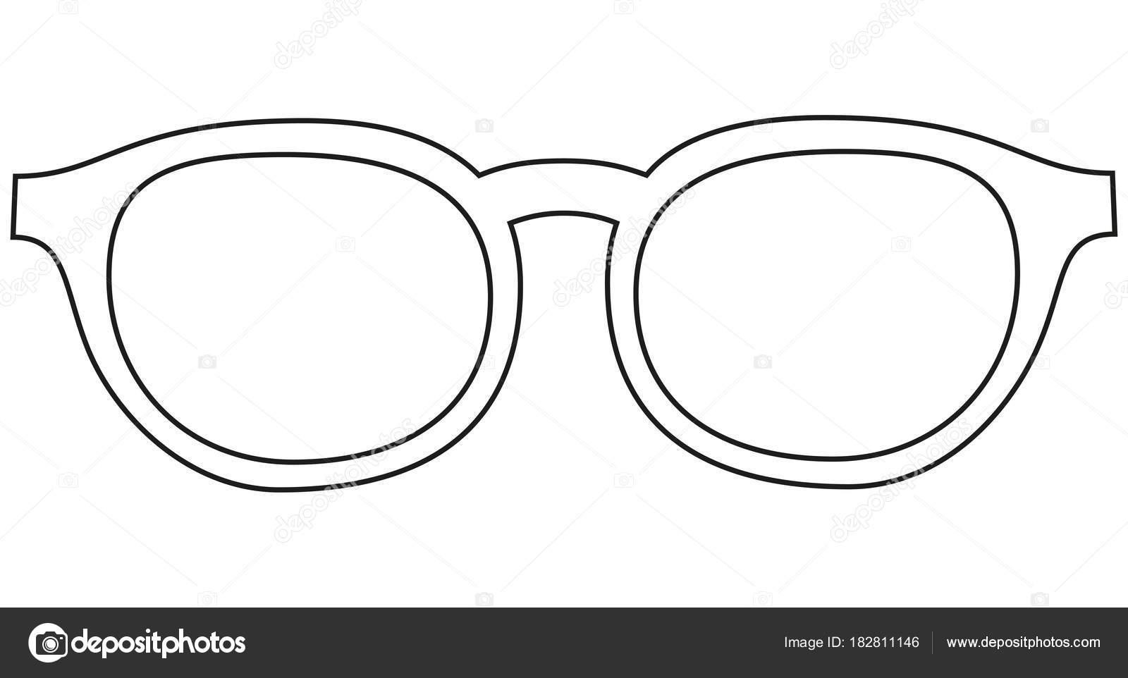 Icona Linea Arte Poster Uomo Padre Papà Giorno Occhiali Occhiali