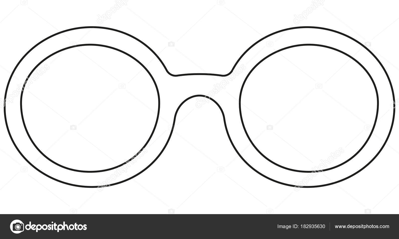 Fotos Dibujo De Gafas Redondas Día Icono Línea Arte Cartel Hombre
