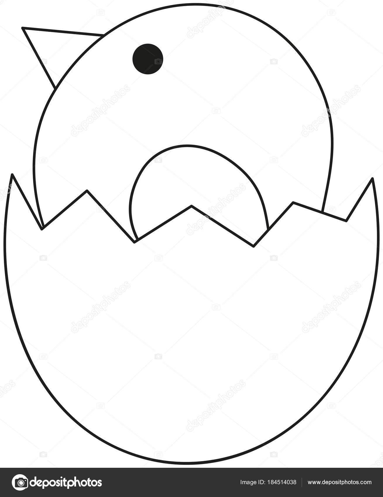 Hat Sanat Siyah Beyaz Yeni Doğan Tavuk Civciv Simgesi Poster Stok