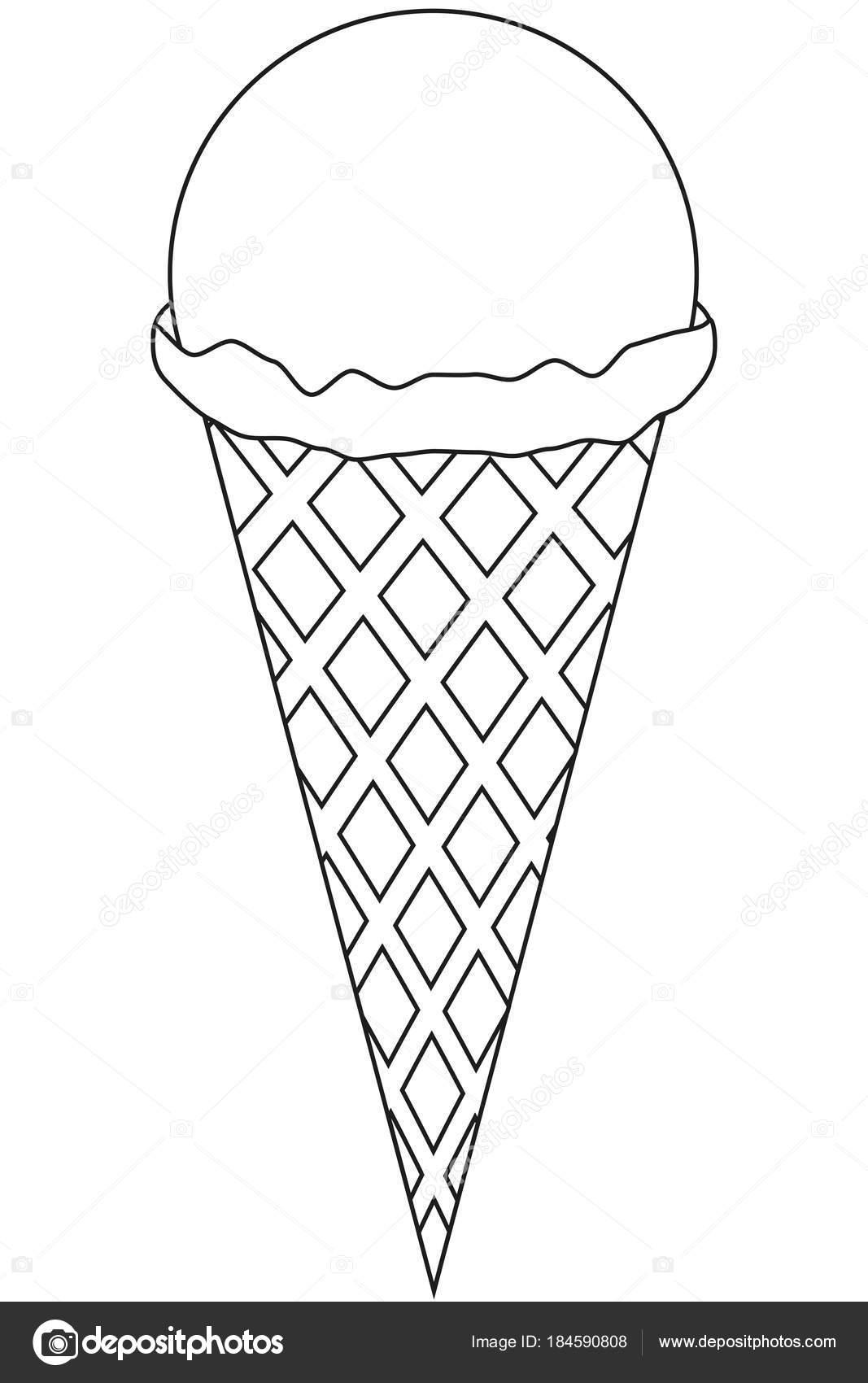 zwart wit lijn kunst pictogram ijs stockvector