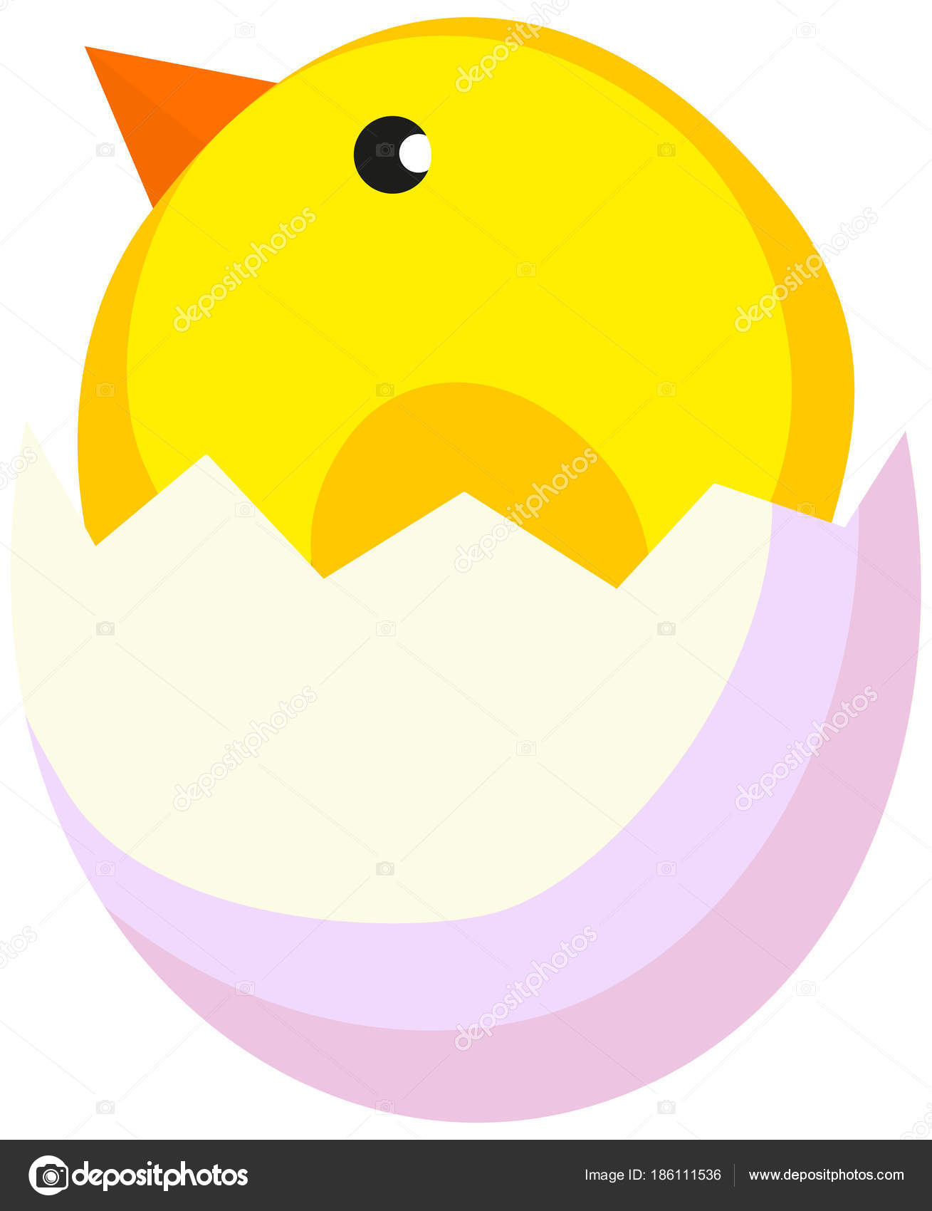 Cartoon Neugeborenen Huhn Küken Symbol Plakat — Stockvektor ...