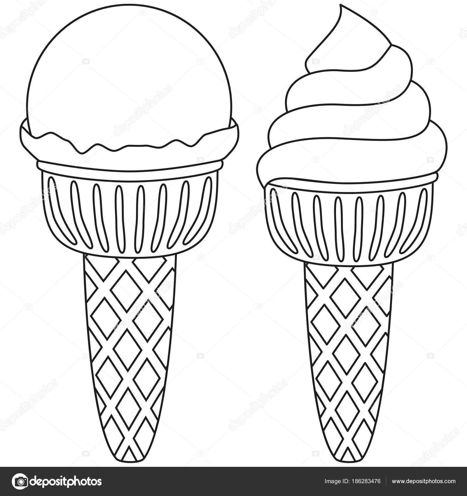 Linie Art Eis schwarz-weiß-Icon-set — Stockvektor © bessyana #186283476