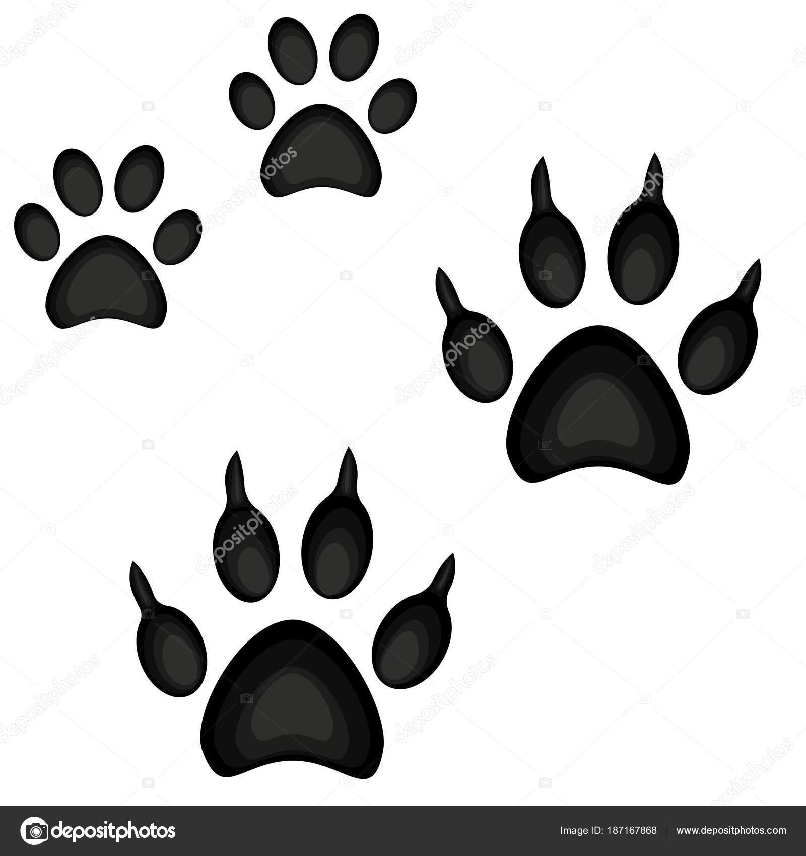 9a78f0849caf5 Icono de la huella de pata de coloridos dibujos animados gato perro cartel  set. Ilustración de vector temático para la tarjeta de regalo