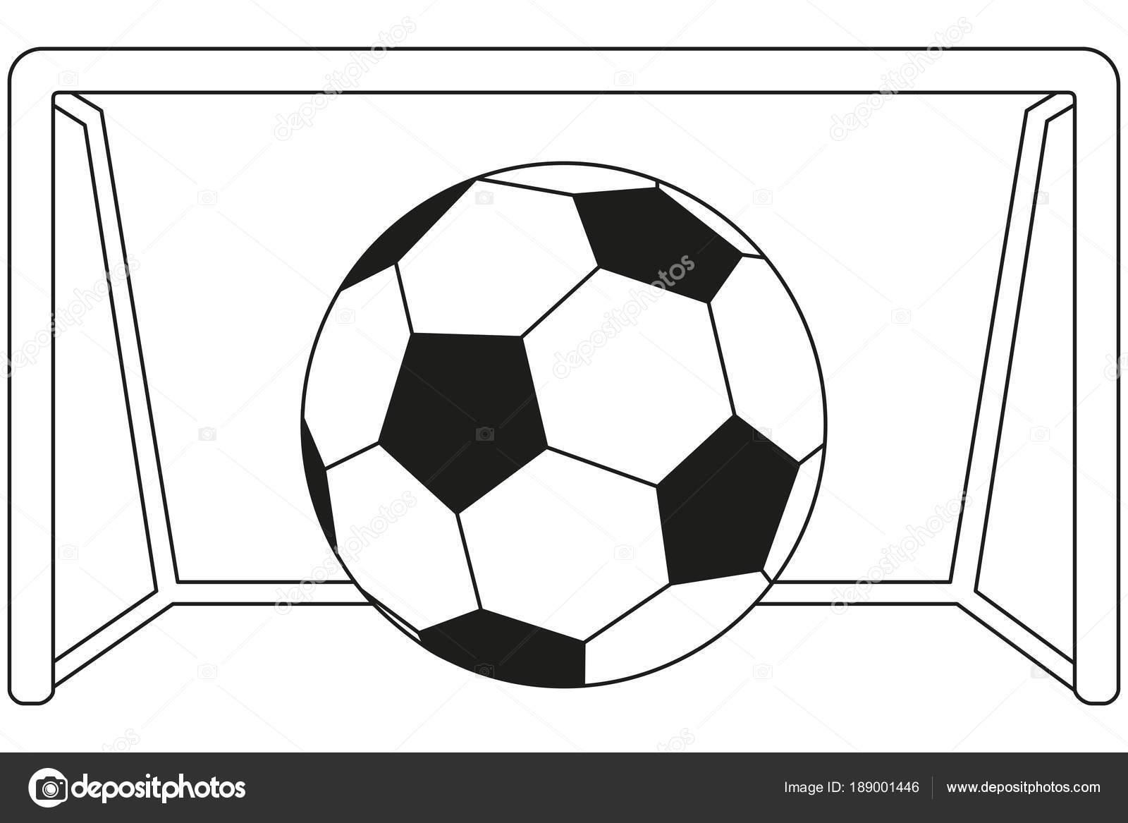 Liniensymbol Kunst Schwarz Weiss Fussball Spiel Stockvektor