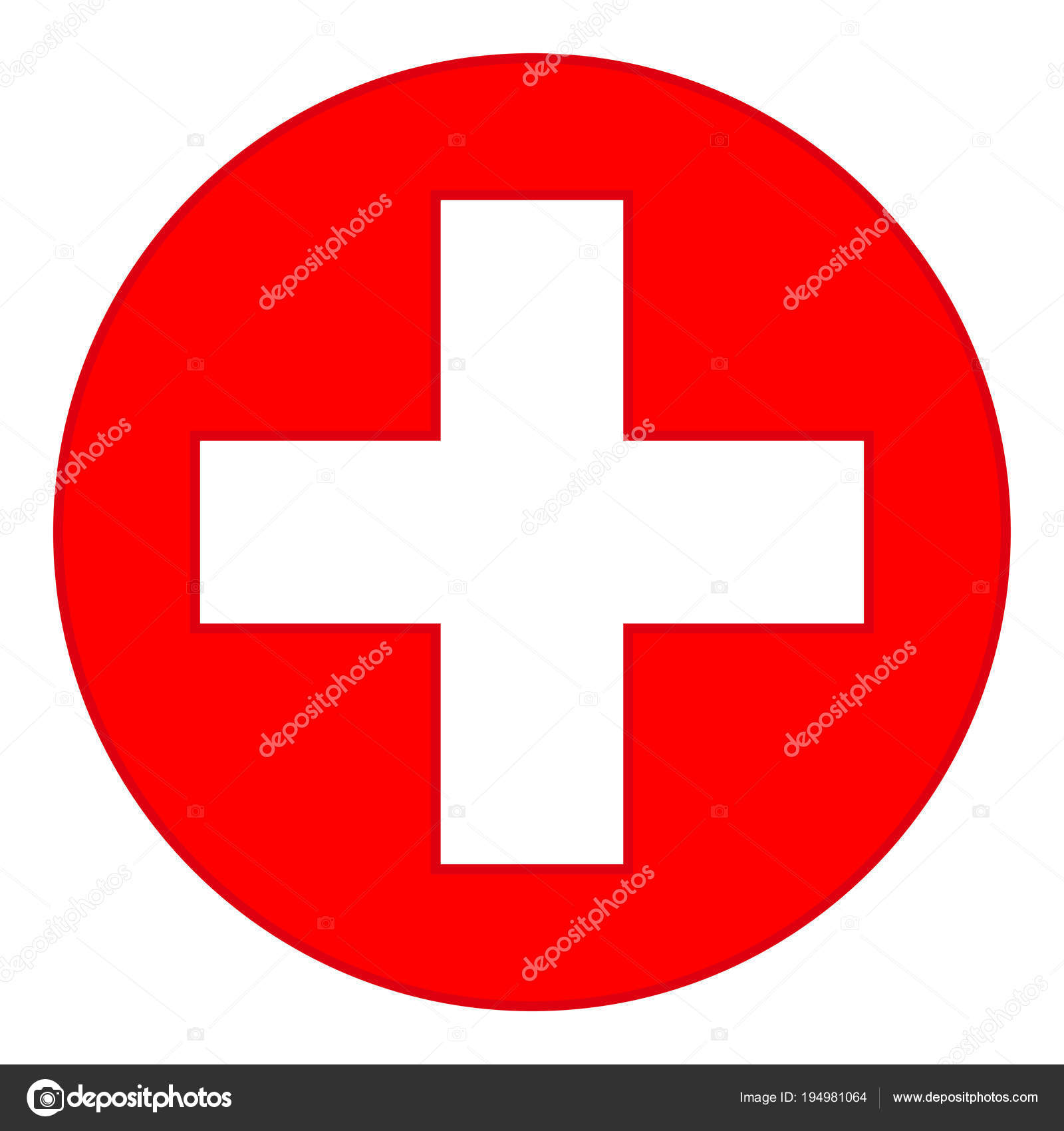 colorful red medical cross symbol ⬇ vector image by © bessyana | vector  stock 194981064  depositphotos