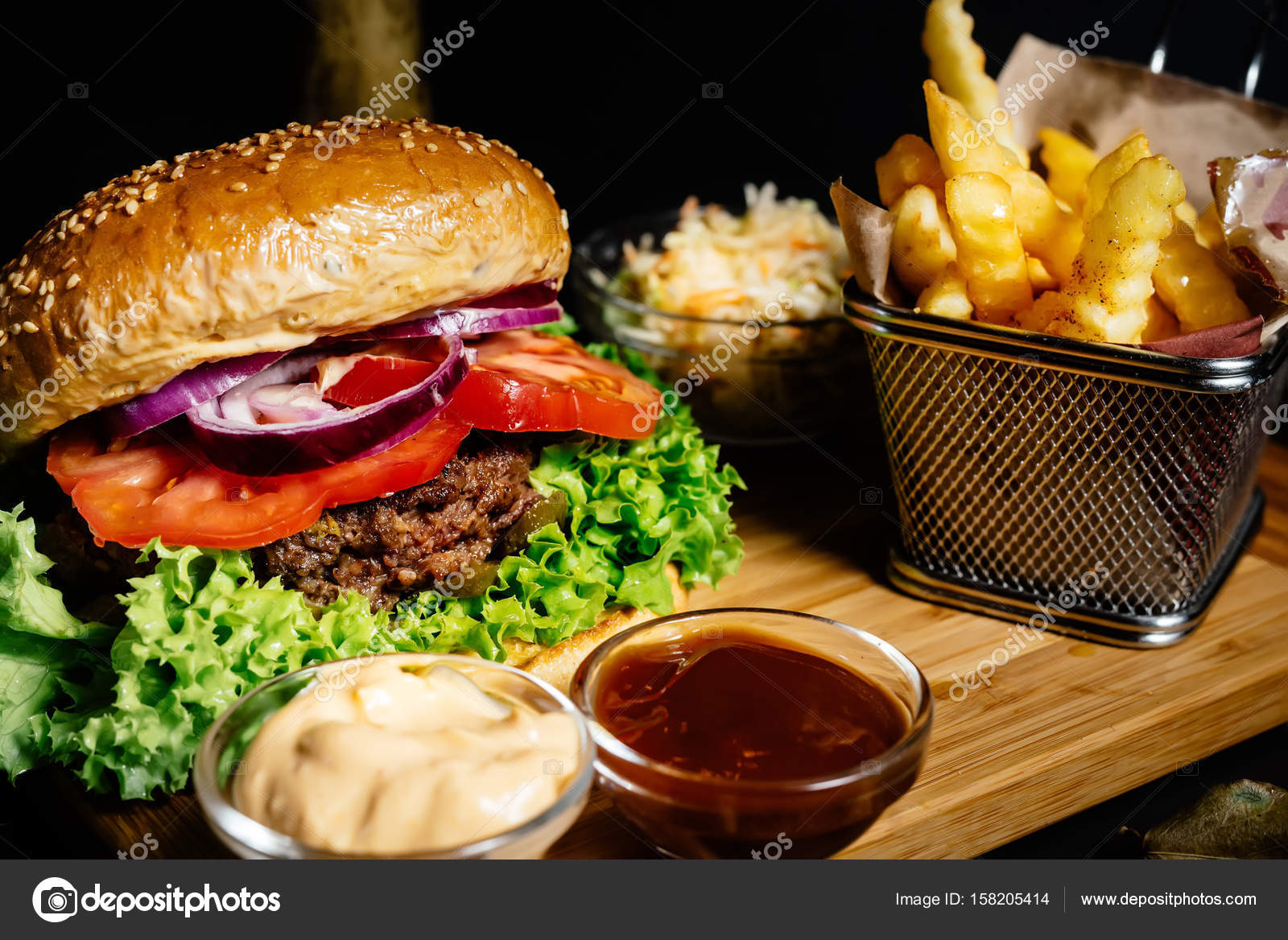 Tasty and delicious juicy beef burger american style food for American style cuisine