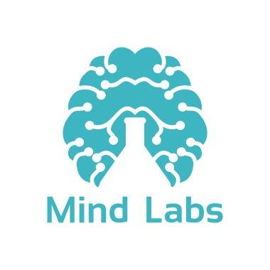 brain lab logo ideas. Vector illustration