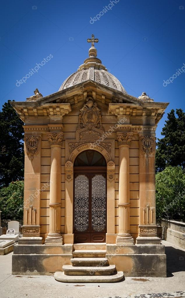 The Old Single Family Crypt On A Blue Sky Background Stock Editorial Photo Nunochka 125172614