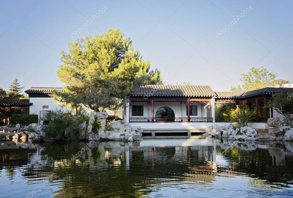 Quiet evening in Chinese Garden of Serenity