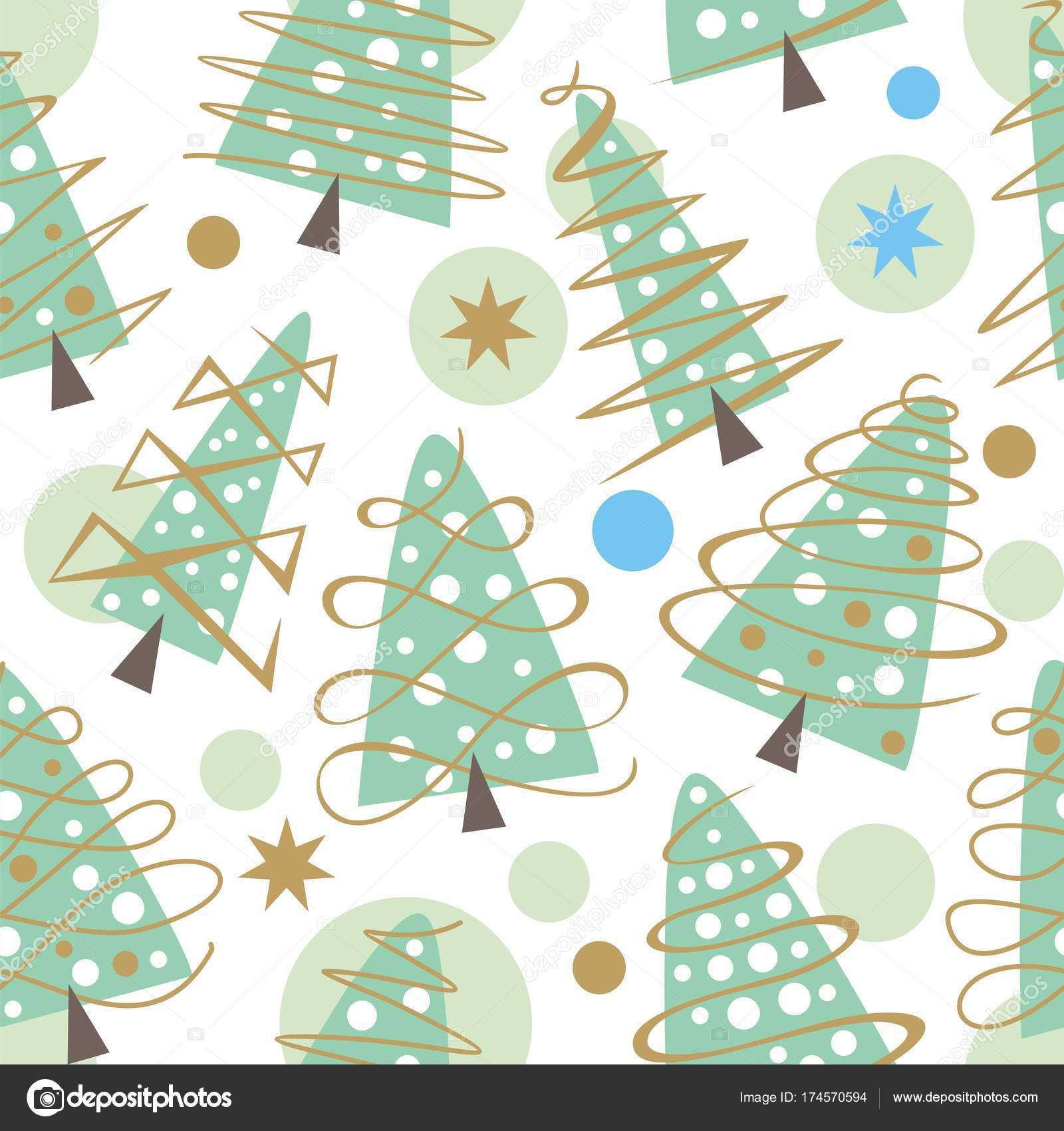 árboles de Navidad de patrones sin fisuras — Archivo Imágenes ...