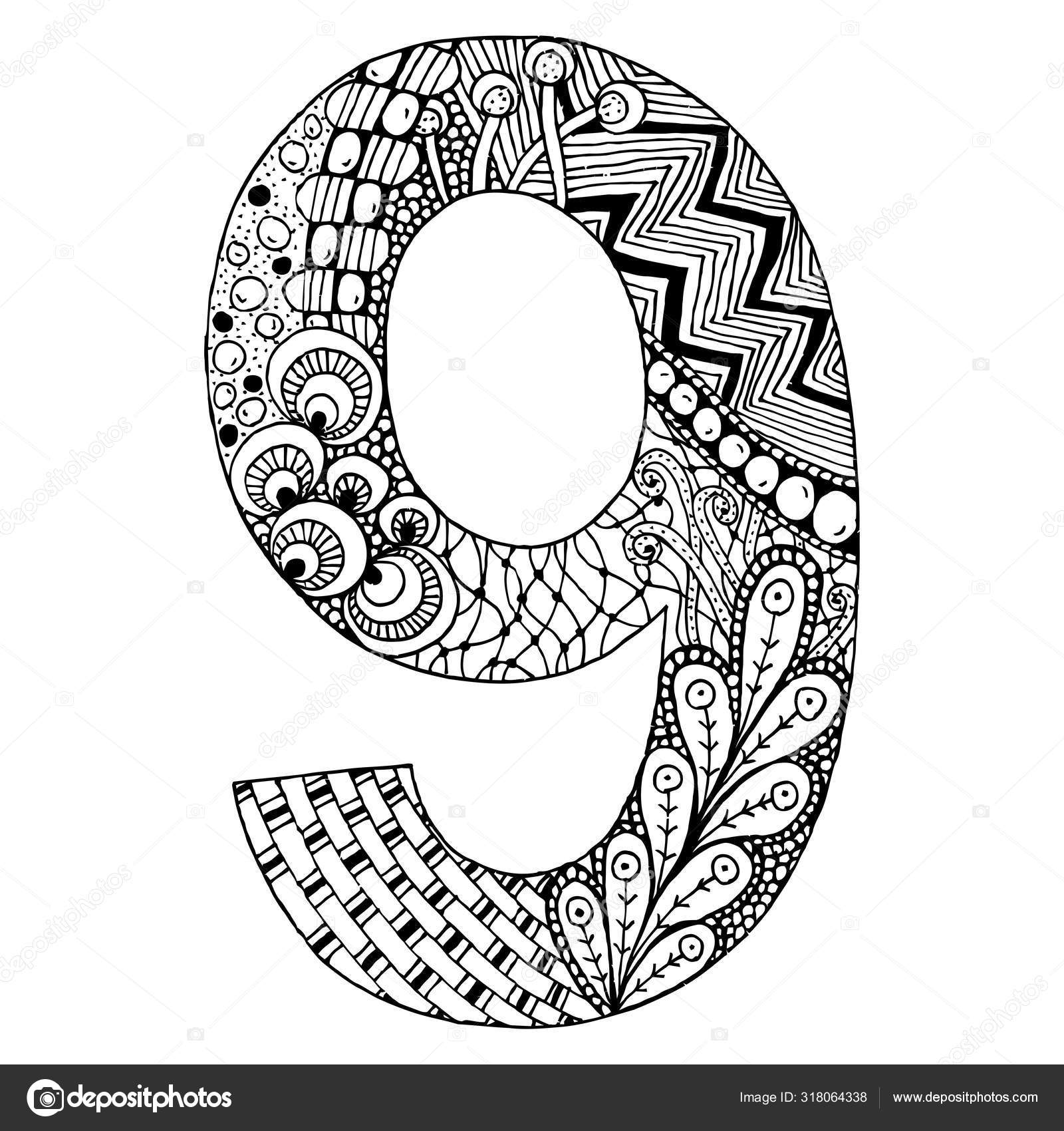 Alphabet Zentangle Coloring Pages - Bowstomatch