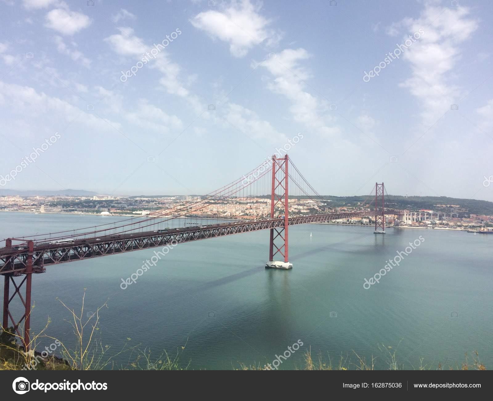 Lissabon Fluss brücke lissabon fluss stockfoto maryanahavryliv gmail com 162875036