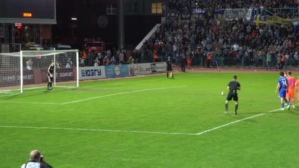 Kursk, Rusko - 20 září 2017: fotbalový zápas mezi Cska Moskva a Avangard Kursk, cíl z trestu místě proti Cska