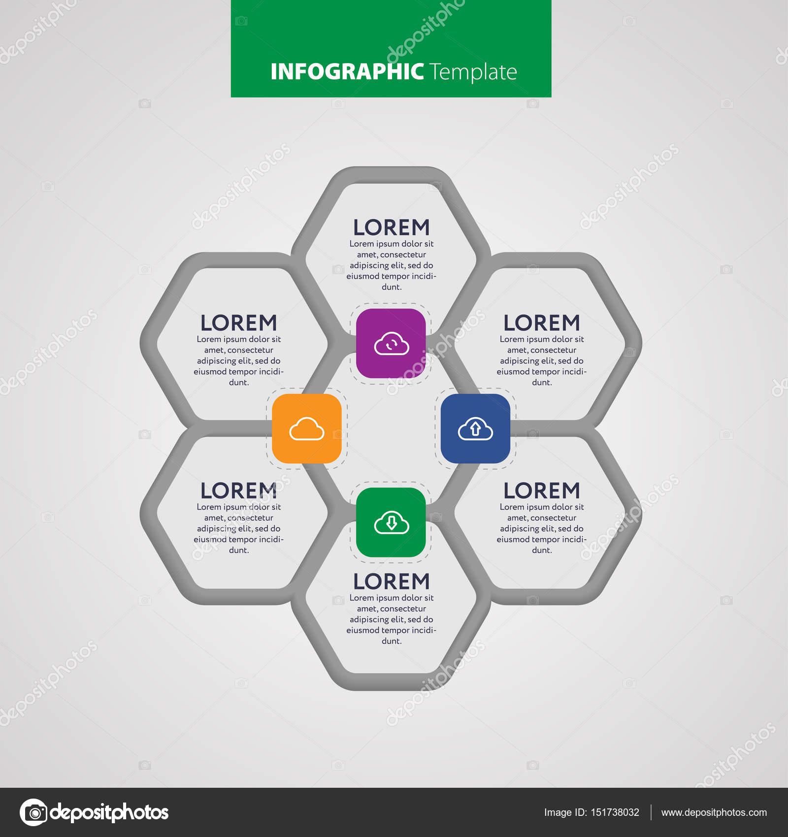 plantilla de informe Vector infográfico de las líneas y los iconos ...