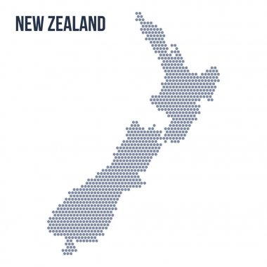 Vector hexagon map of New Zealand . Business space in the country.