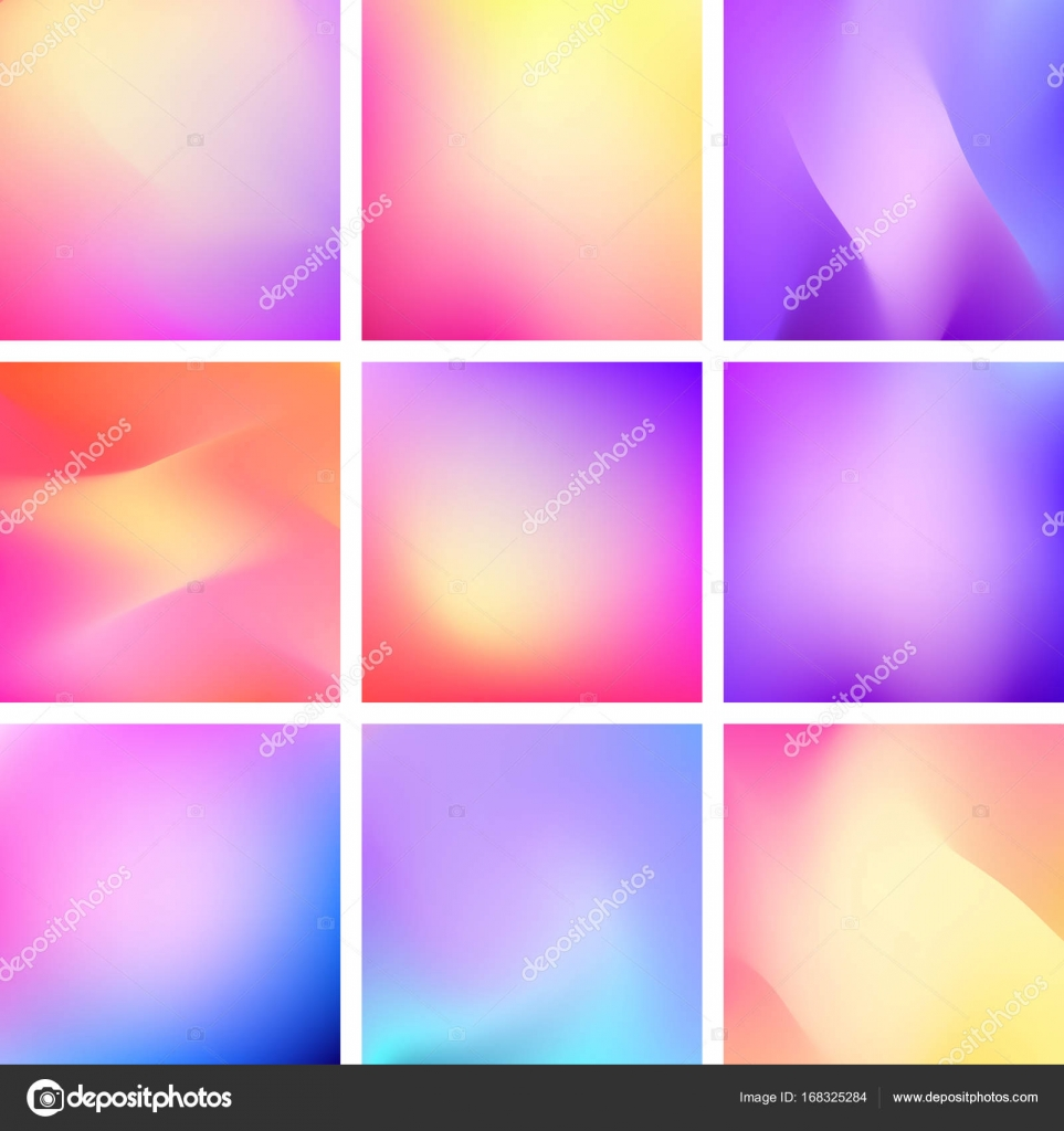Abstract Vector Trendy Gradient Backgrounds Set Suitable Mobile App Design Templates Business Presentations And Web Background