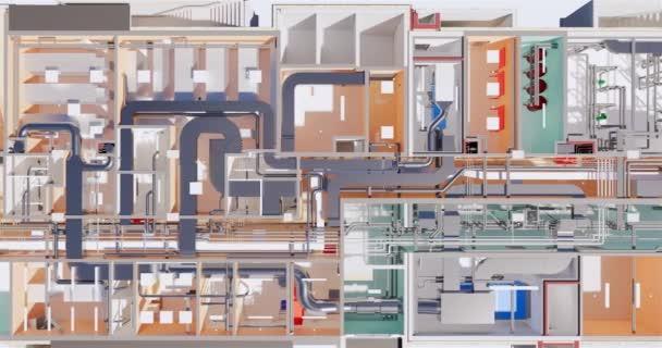 Visualisierung von Büroflächen im Untergeschoss eines Business Centers von oben