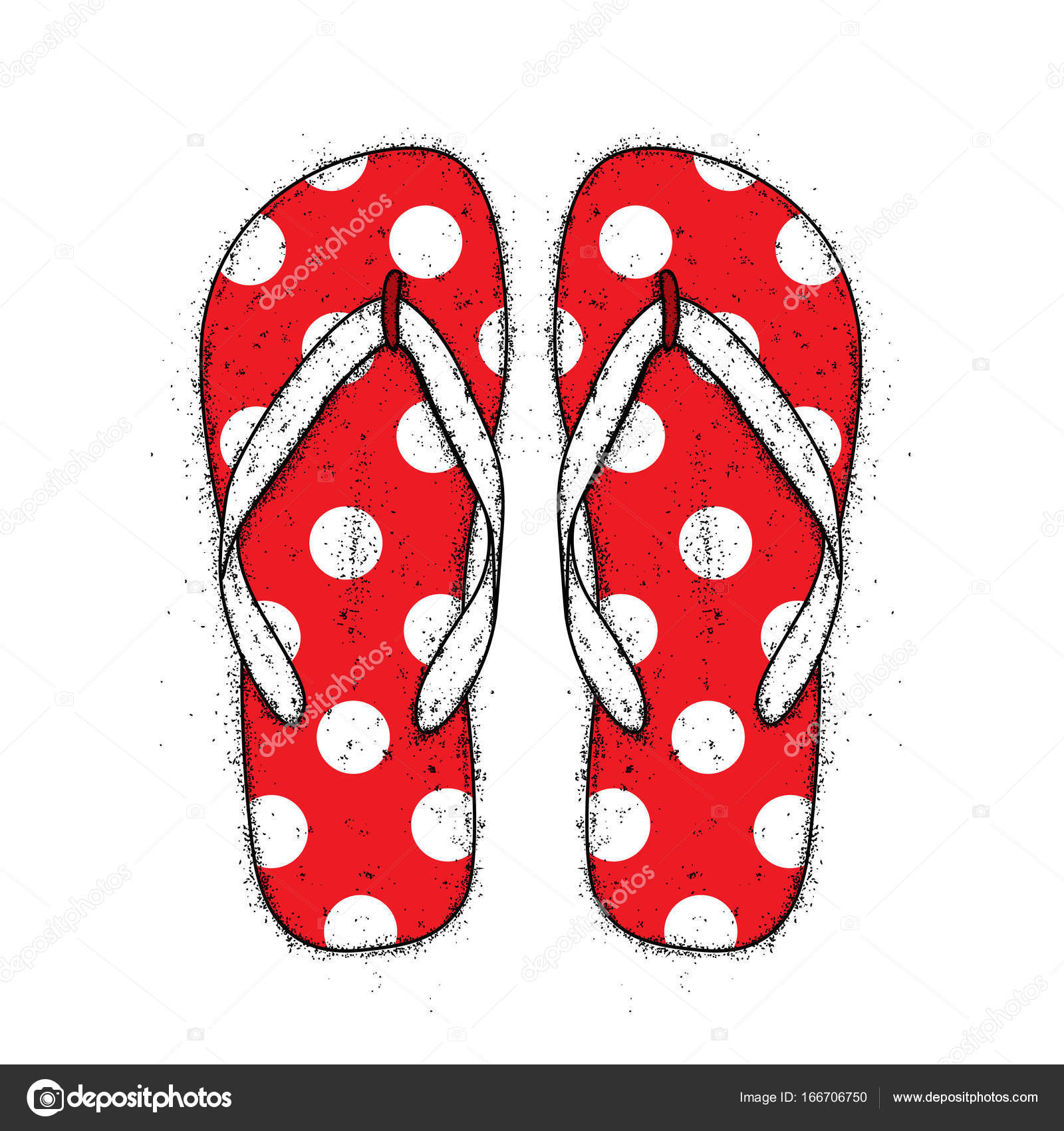 3841a5577f089 Bright colored flip flops. Vector illustration for a postcard or a poster.  Beach shoes. Summer