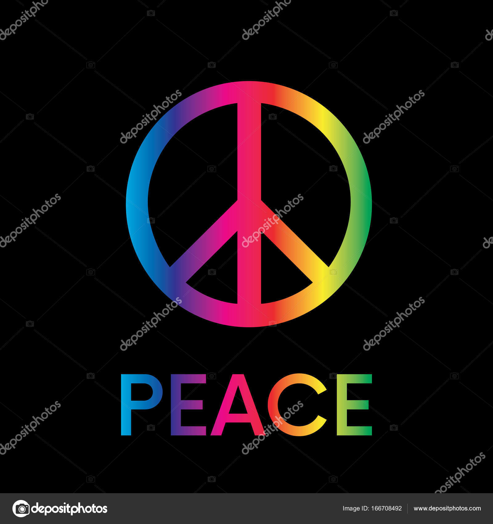 Rainbow symbol of pacifism against racism homophobia and war rainbow symbol of pacifism against racism homophobia and war peace vector illustration biocorpaavc Images