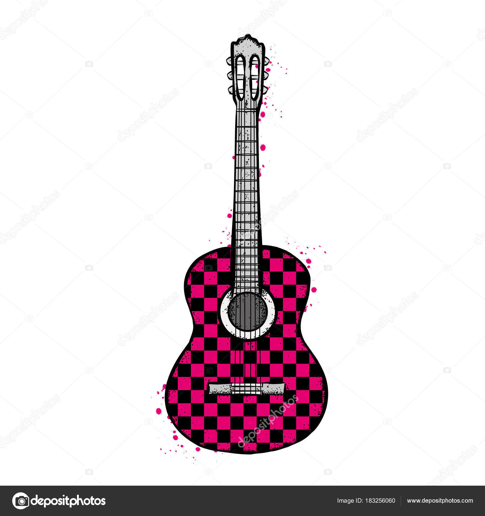 アコースティック ギター ベクトル イラスト ストックベクター