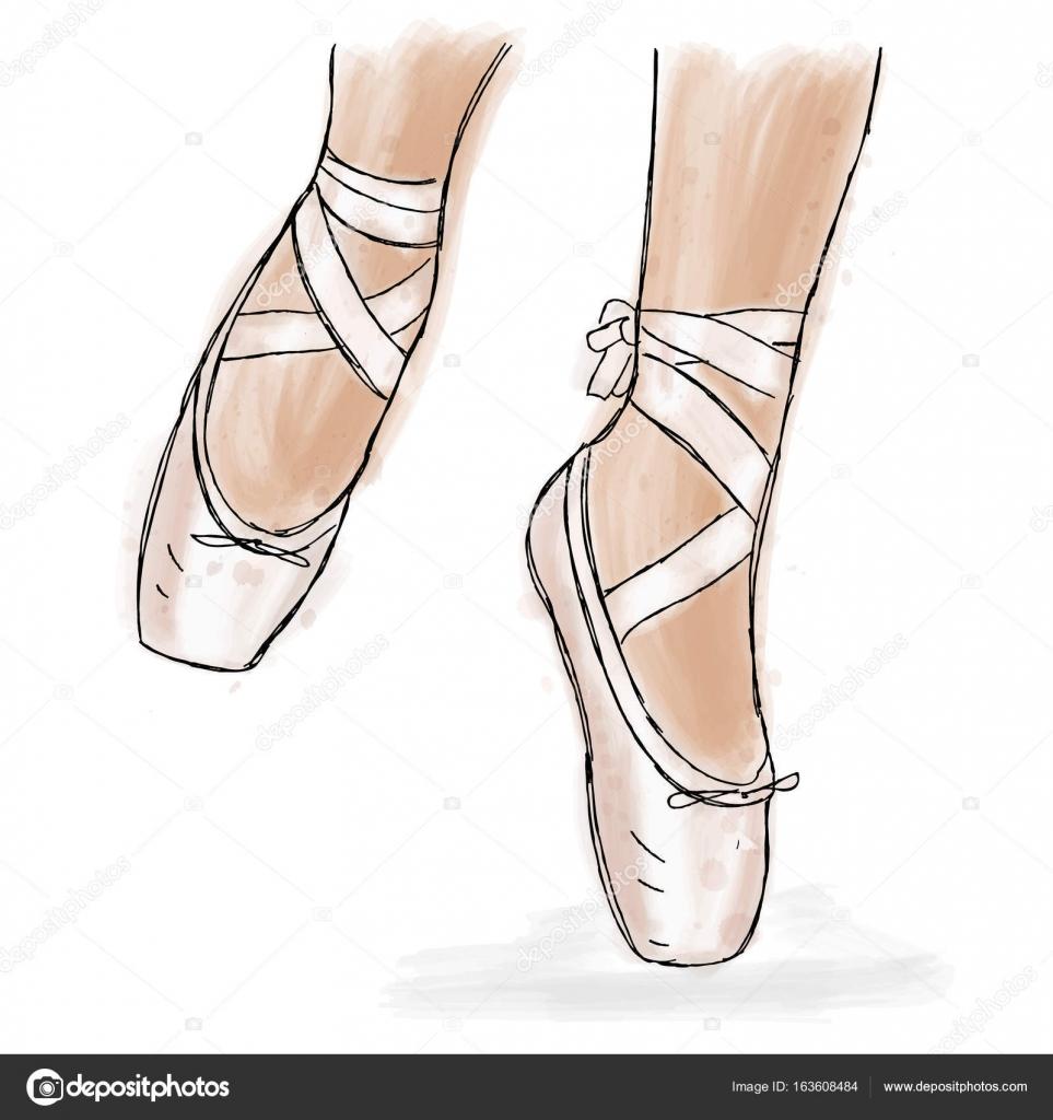 Ballerina rosa scarpe. Scarpe da punta danza classica con il