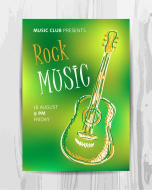 Club music concert poster