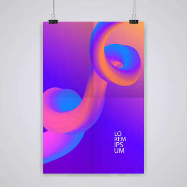 Trendy abstract cover. Futuristic design colorful poster. Eps10 vector.