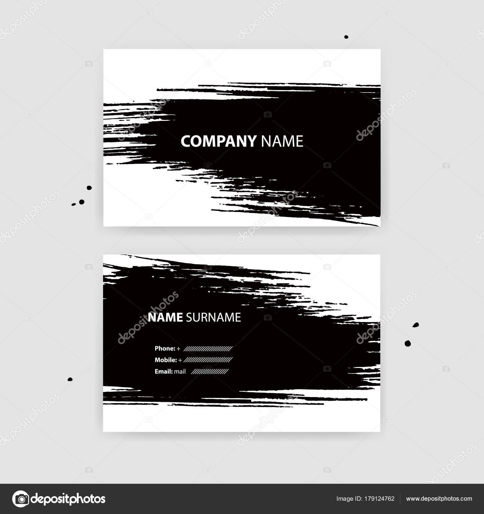 Banniere Horizontale Avec Des Traits Dencre Noir Illustration Vectorielle Vecteur Par