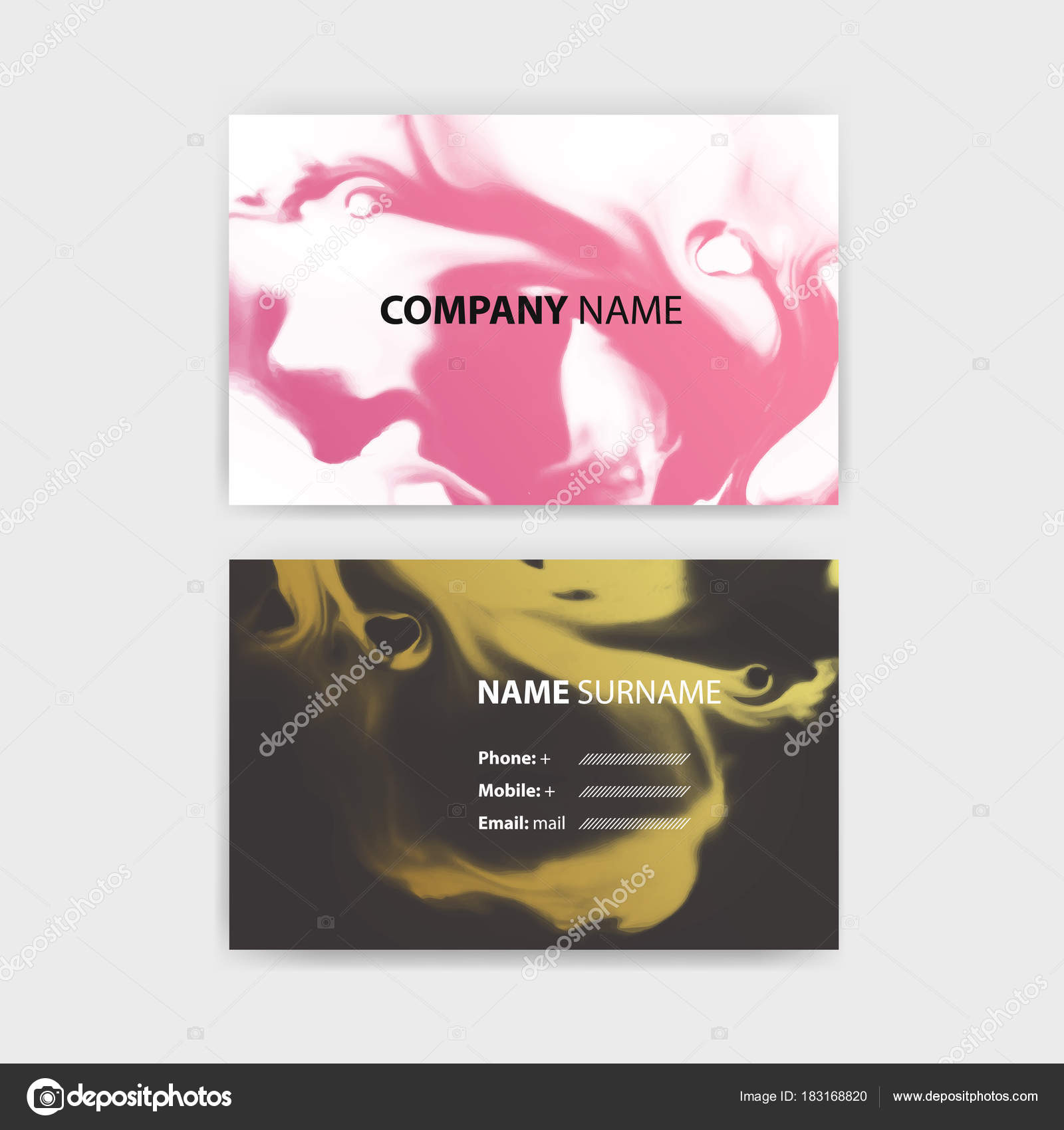 Business card template with ink background design horizontal business card template with ink background design horizontal template layout in rectangle size vector eps 10 illustration vector by razalina reheart Choice Image