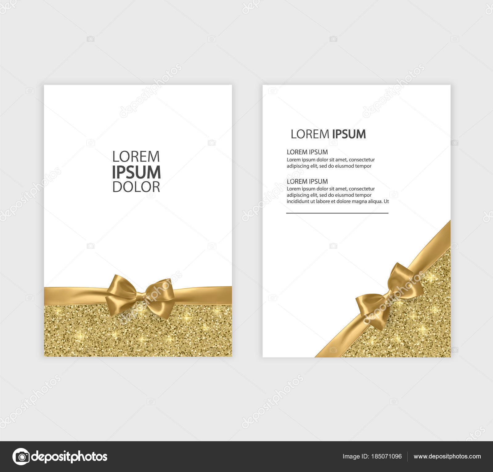 Set of Gift Voucher Card Template, Advertising or Sale. template ...